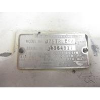 0325594 Johnson Evinrude OMC Port Stern Transom Bracket  Outboard