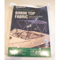 "343WV Attwood White Vinyl 3 Bow Bimini Top Fabric 75-81"" W 72"" L Frame ""D"""