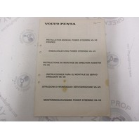 3810035 Volvo Penta Installation Manual Power Steering V6-V8 Engines 1984