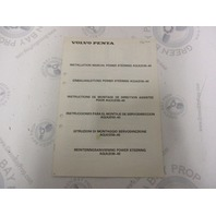 3810036 Volvo Penta Installation Manual Power Steering AQ(A)D30-40 1984