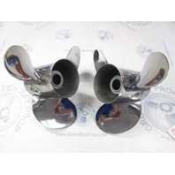 48-16318A45 21 Pitch Stainless Steel Right & Left Props Fits Mercruiser Alpha