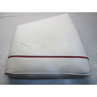 1984 Bayliner Capri Boat Seat Cushion Light Grey Vinyl Red Stripe