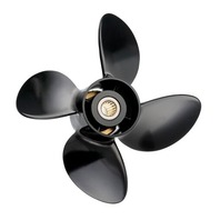 10 x 15 Pitch 4 Blade Propeller for Mercury Tohatsu/Nissan Outboard 25-30 Hp