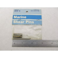 S&J OUTBOARD BRASS SHEAR PINS, SP09, 7/32 x 7/8, Pkg of 2
