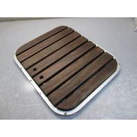 """24 1/4"""" x 20 1/4"""" Boat Floor Deck Hatch Teak Wood from 1977 Regal Majestic 206"""