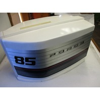 F3C630944 Force Outboard 85 HP Cowling Top Cover Hood White Cowl 630944