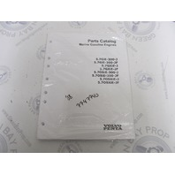 7747740 2008 Volvo Penta Marine Gasoline Engine Parts Catalog 5.7L