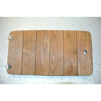 Boat Teak Wood Hatch Panel 23 x 12 inches Rounded Corners