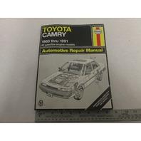 1983-1991 Haynes Toyota Camry Automotive Repair Manual, Gas Engines