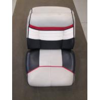 Back to Back Boat Seats for 1990 Bayliner Capri Blue Grey White Red