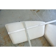 Front Bow Seat Boat Cushions 1989 1990s Wellcraft White Vinyl