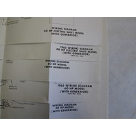 1965 Evinrude & Johnson Outboard Wiring Diagrams 40-90 Hp on