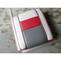 Four Winns Sun Downer Boat Rear Jump Seat Cushion Red White Gray