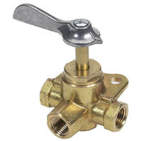 033305-10 Moeller Brass Three Way Click FNPT Valve 1/4 inch