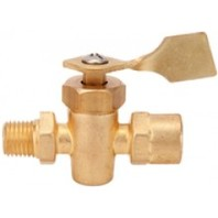 20721 SeaChoice 2 Way Fuel Line Valve Brass Male to Female Ports 1/4 inch