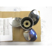 "QS5168R Quicksilver Stainless Steel Prop Propeller 10 3/8"" 14 Pitch 3RH"