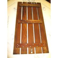 "Four Winns 1987 170 Horizon Teak Wood Ski Deck Hatch Cover 30 1/4"" by 15 1/4"""