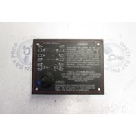 1989 Bayliner Capri Dash Panel Emergency Shutdown Switch W/O Lanyard