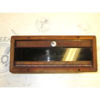 1984 Renken Teak Trim Glove Box Storage Compartment