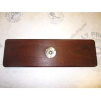 "Four Winns 190 Horizon Boat Teak Wood Dash Compartment Cover 17 1/4"" x  5 1/4"""