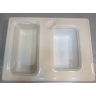 Almond Colored Custom Fiberglass Sink For Voyager Pontoon Boats