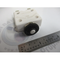 Marine Push Button WHITE Boat Circuit Braker 5 Amp Up to 50 DC Volts Heacy Duty
