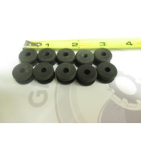 "3/8"" Cable Clamp Black Rubber Grommets .203 Center Hole Qty 10"