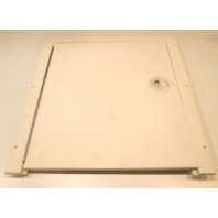 "Voyager Pontoon  White Poly Access Door Non-Locking 17 3/8""w X 18 1/2""t"