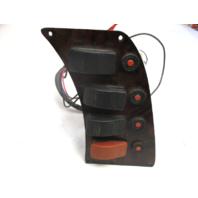 Marine Boat Dash Switch Panel Wood Grain Finish Horn Livewell Int Lights Nav/Anc