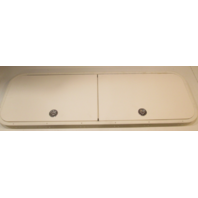 "Marine Boat Ski Double Door White Poly Access Hatch W/ Aluminum Frame 60"" X 20"""