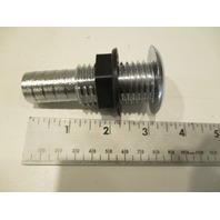 "TH-750CP T-H Marine Boat Thru Hull Chrome Straight Barbed 3/4"" Fitting"