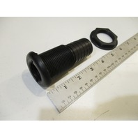 "Marine Boat Thru Hull Black Straight Barbed 1 1/8"" Fitting"