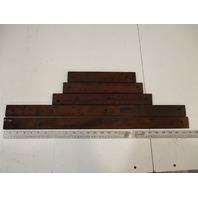 Marine Boat Teak Wood Deck Wall Insert Trim Set 1984 Renken