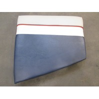 Boat Right Bow Seat Cushion for 1990's Bayliner Capri Gray & Blue & White Vinyl