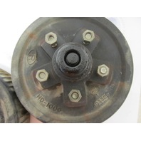 """HD-1000 Complete 10"""" Greased 5 Hole/Bolt Trailer Wheel Hub & Drum Pair"""