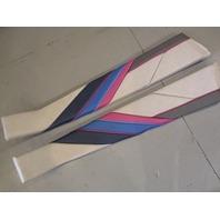 Set of TWO 1989 Bayliner Capri Interior Front Bow Wall Cushion Panels
