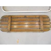 "Teak Wood Boat Floor Deck Ski Hatch Cover & Aluminum Frame 35 1/2"" x 11 1/2"""