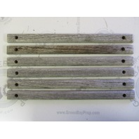 "Boat Teak Wood Deck Wall Insert Trim 12"" x 7/8 inch  1988 Four Winns 160 Freedom"