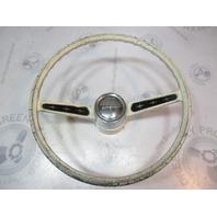 """Ride Guide Boat Steering Wheel Square Shaft 16"""" White 2 Spoke Aluminum"""