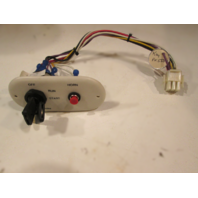 Off White Boat Dash Ignition Key Switch Panel With Horn Button