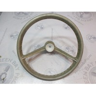 "1969 OMC Evinrude Johnson Marine 14 3/4"" Steering Wheel 19 Spline 2 Spoke"