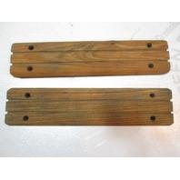 "Vintage Marine Boat Teak Wood Step Pad Trim Set 11 3/4"" x 2 5/8"" x 5/8"""