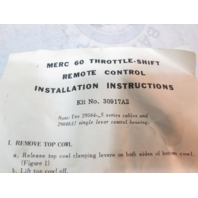 "30917A2 Fits Mercury Outboard Remote Control Attachment Parts Kit ""A"""