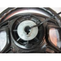 """1991 Forester 190 Sport Marine Boat Steering Wheel 13.75"""" Black Plastic Padded"""