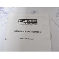 Force Outboard Instumentation Gauge Installation Instructions Set