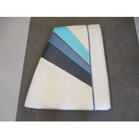 Boat Left Bow Seat Cushion for 1988 Bayliner Capri Gray & Blue Vinyl
