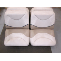 """95 Wellcraft Excel 21SX Boat Folding Back to Back Seats White,Tan,Blue 50"""" X 21"""""""