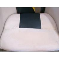 2001 Euroline Twister Boat Passenger Captains Chair White/Green/Tan/Yellow