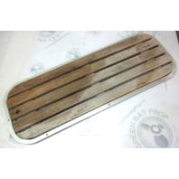 "Marine Boat Floor Deck Ski Hatch Cover Teak Aluminum Frame 37 1/2"" x 13 3/8"""
