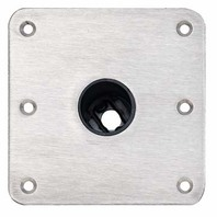 """SNAP-LOCK  1.77"""" Stainless Steel Finish Base Plate 7"""" x 7"""""""
